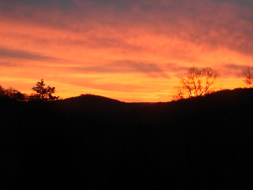 Sunrise over the Appalachian Mountains at Kalien